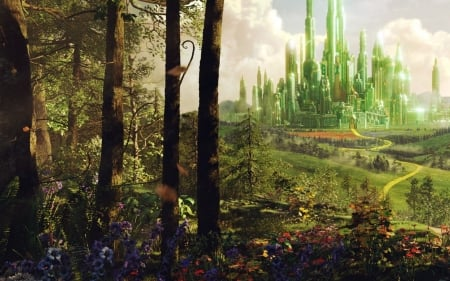 Wizard Of Oz Emerald City Forests Nature Background
