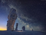 The Milky Way over the Seven Strong Men Rock Formations