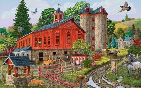 Bright Red Barn