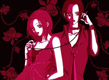 The Two Nanas Anime Friends Komatsu Anime Red Eyes Osaki