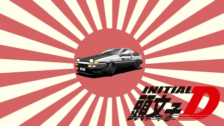 Rising sun ae86 initial d anime background wallpapers - Ae86 initial d wallpaper ...