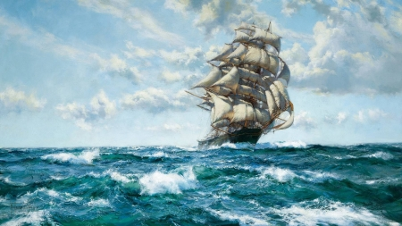 Sailing Ship - cool, boat, ocean, fun, sailboat
