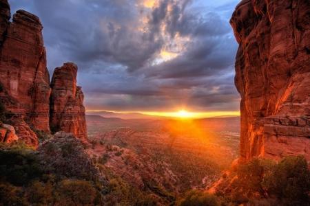 Sedona Arizona Desert Mountain Landscape Nature HD POSTER