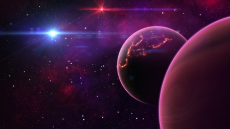 Planet Galaxies 4K - galaxies, planet, world, space