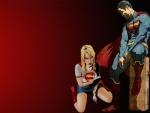 Superman & Supergirl Wallpaper - Defeated