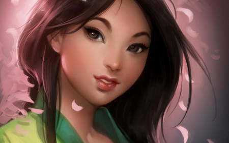 Mulan - wallpapers, disney, mulan, cartoon