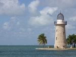 Lighthouse on Boca Chita Key, Miami