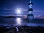 Penmon Lighthouse at Night