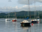 Sailboats in Lake District, England