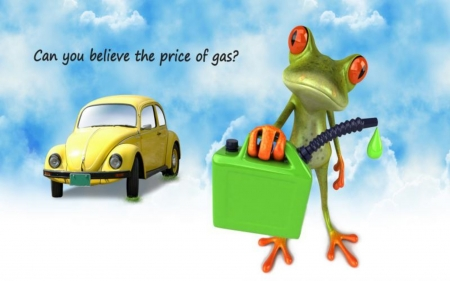 Frog Gas - Car, Funny, Bug, Gas, Clouds, Sky, Frog