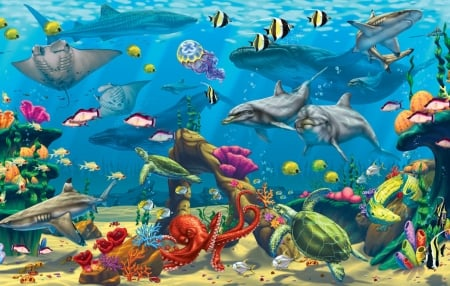 Sea Life Fantasy Amp Abstract Background Wallpapers On