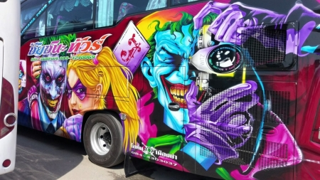 Crazy Custom Bus In Thailand - Thailand, Colorful, Crazy, Bus, Custom
