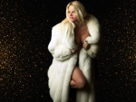Sexy Blonde in White Fur
