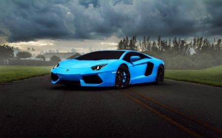 Blue Lamborghini Lamborghini Cars Background Wallpapers On