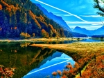 Autumn Mountains and River