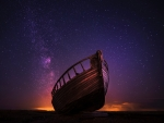 Amazing Night Sky Boat