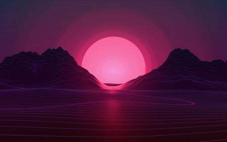 Pink Moon Fantasy Abstract Background Wallpapers On