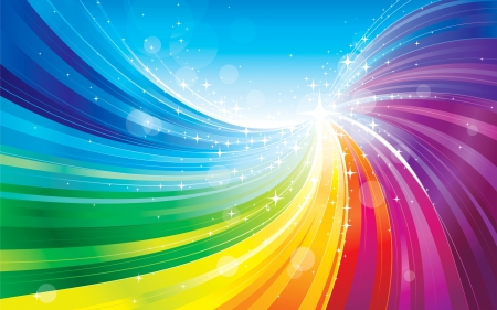 Rainbow Vector 3d And Cg Abstract Background Wallpapers