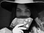 Cowgirl Poker Player . .