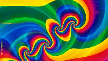 Rainbows on the Move! - red, colorful, stripes, orange, scarlet, co11ie, swirls, rainbow, rainbows, feeling groovy, green, purple, multicolored, violet, golden yellow, blue, homemades