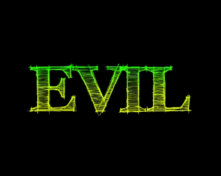 Evil - gizzzi, green, black, labrano, evil, yellow