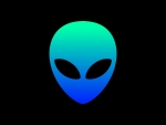 alien face blue