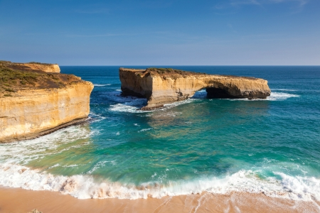 Natural Bridge Off The Coast Of Australia Beaches Nature