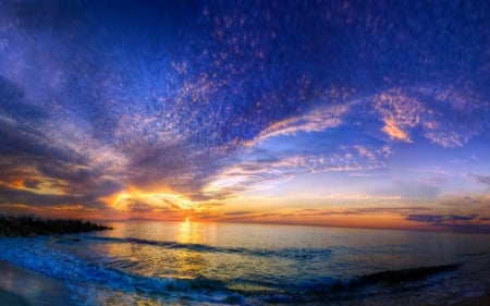 Beautiful Sunset Beach Sunsets Nature Background Wallpapers On