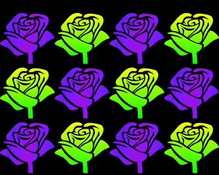 Neon Roses Textures Abstract Background Wallpapers On Desktop