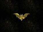 bat golden night sky