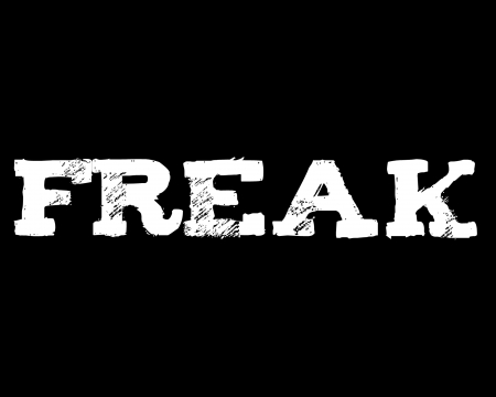 freak - gizzzi, text, freak, black, labrano, white