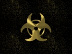 biohazard gold night sky
