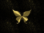 butterfly gold night sky