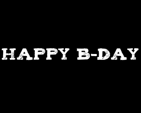 happy b-day - text, gizzzi, happy birthday, happy b-day, black, labrano, birthday, white