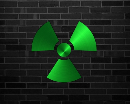 nuclear - gizzzi, radioactive, nuclear, brick, green, labrano, wall