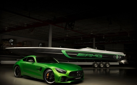 Mercedes Benz - side view, cars, green cars, vehicles, Mercedes Benz