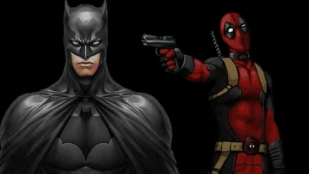Deadpool Wallpaper Batman Turns His Back Other Anime