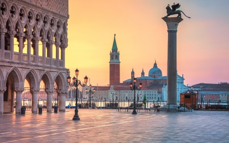 Venice Italy Medieval Architecture Background