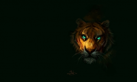 Tiger Fantasy Abstract Background Wallpapers On Desktop Nexus