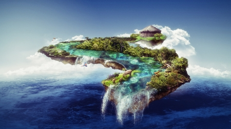 Floating Island Fantasy Amp Abstract Background Wallpapers