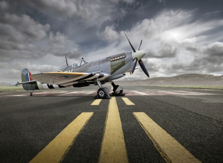 Spitfire - war, ww2, fighter, flight, propellor, aircraft, plane, military, spitfire