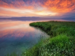 Sayram Lake at Sunrise