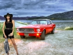 Cowgirl Michaela Isizzu and her Mustang