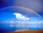 Rainbow Above Beach