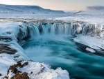 Snowy River Waterfall in Winter