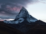 Mountain Summit of Switzerland at Twilight