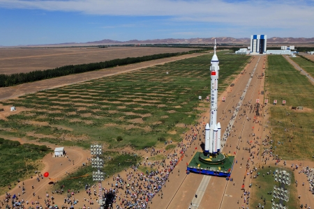 Shenzhou 9 spacecraft - 9 June 2012, Shenzhou 9 spacecraft, Gansu province, Jiuquan Satellite Launch Centre, Silk Road