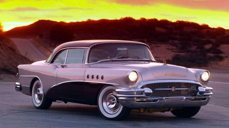 1955 Buick Roadmaster - 1955 Buick Roadmaster, cars, purple cars, buick roadmaster, buick, vehicles