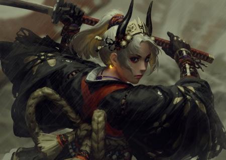Fantasy Demon War Art