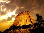 Devils Mountain In Wyoming USA